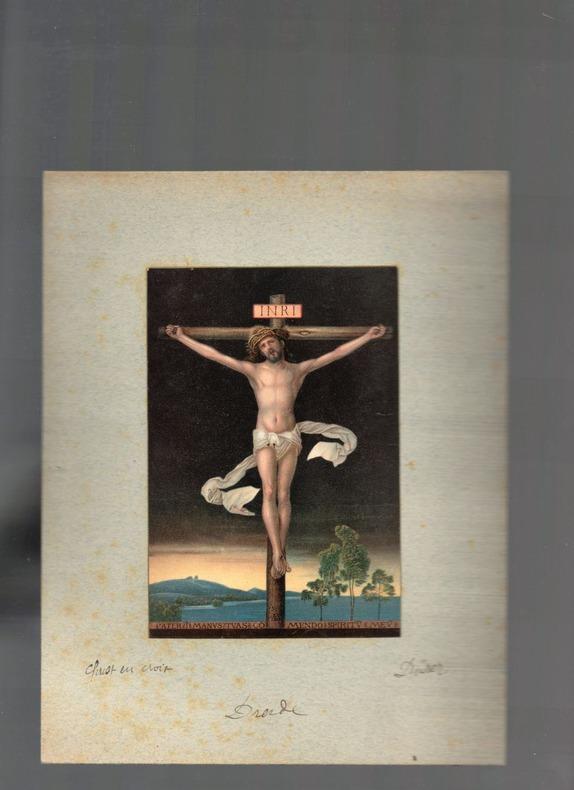 [Chromolithographie] - Christ en croix (Christus Am Kreuze).. DÜRER Albrecht ..//.. Albrecht Dürer (1471-1528).