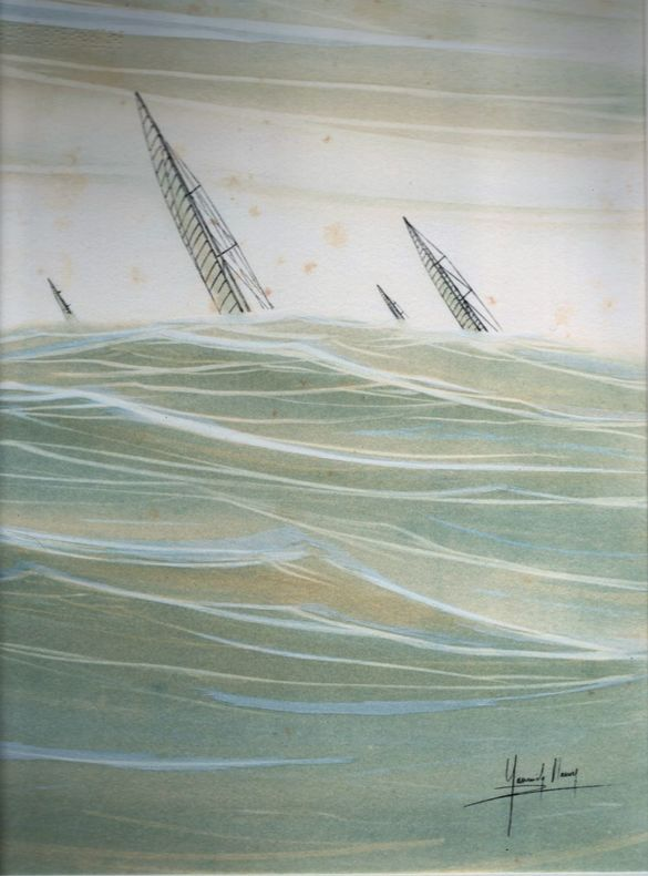 [Lithographie] - Voilier.. MANIER Yannick ..//.. Yannick Manier.