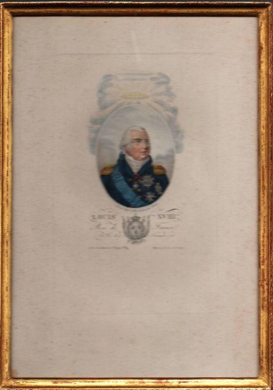 Portrait de Louis XVIII.. CARDON Antoine ..//.. Antoine Cardon (1739-1822).