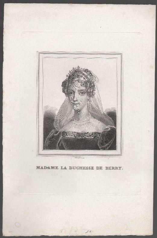 [Gravure] - Madame la duchesse de Berry.. PAUQUET P. ..//.. Polydor ( ou Polydore) Pauquet (1800-....).