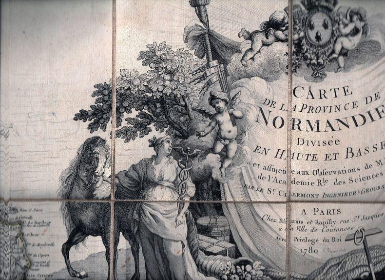 Carte de la province de Normandie divisée en Haute et Basse et assujétie aux observations de M. M. de l'Académie Royale des Sciences.. CLERMONT ..//.. ...