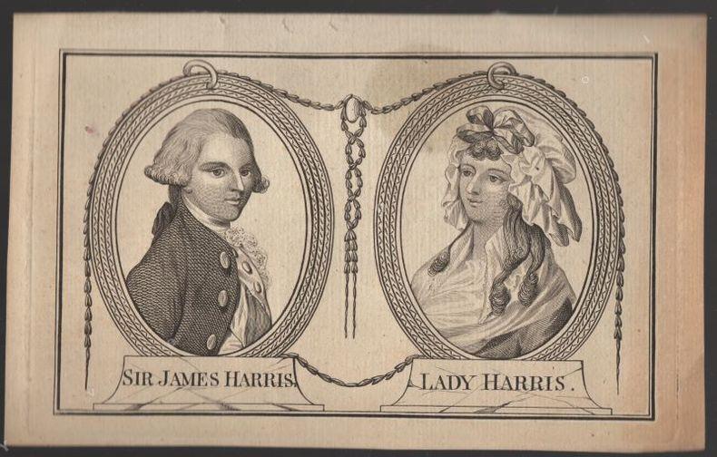 [Gravure] - Sir James Harris et lady Harris..