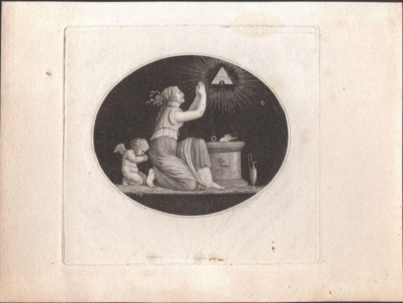 [Pendant de deux gravures, Période révolutionnaire] - Le Cauchemar de l'Aristocratie. - Le Jéhovah des françois.. COPIA / SAUVAGE ..//.. Jacques-Louis ...