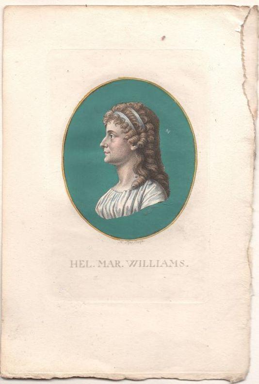[Gravure] - Portrait de Helen Maria Williams (1761-1827).. LIPS ..//.. Johann Heinrich Lips (1758-1817), graveur.
