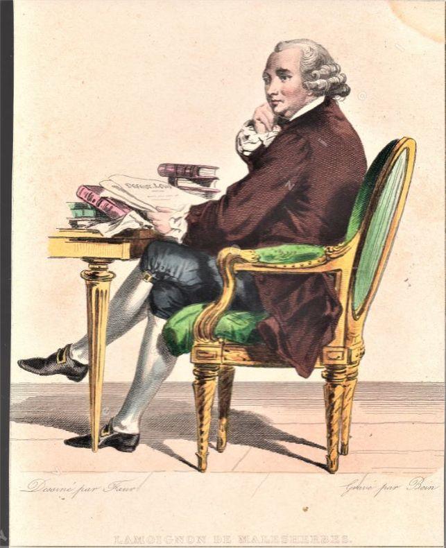 [Gravures] - Ensemble de trois portraits gravés de Malesherbes.. [MALESHERBES .//. Chrétien-Guillaume de Lamoignon de Malesherbes (1721-1794)].