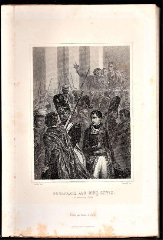 [Gravures] - Ensemble de 10 gravures (lithographies) du 19e siècle sur la Révolution et l'Empire. - Bonaparte aux cinq cents, Mirabeau (portrait), ...