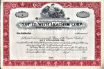 [Certificat d'actions, USA]. - Say it with Leather Corp...