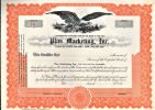 [Certificat d'actions, USA]. - Plus Marketing Inc...