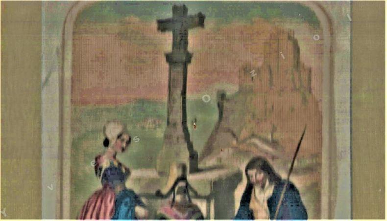 [Gravure en chromolithographie] - Montagnards des environs du Puy-de-Dôme.. BOUR Charles ...//... Charles Bour (1814-1881).