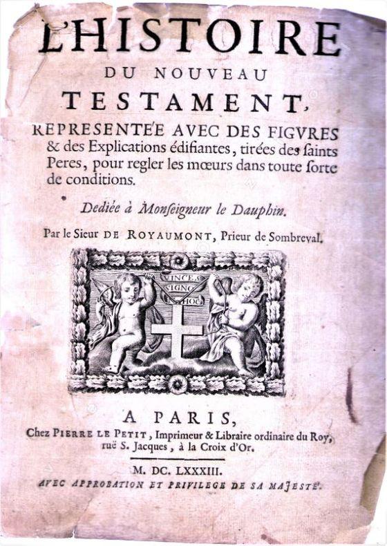 Ensemble de 122 gravures extraites de L'histoire du Nouveau Testament, representee avec des figures & des explications edifiantes, tirees des Saints ...