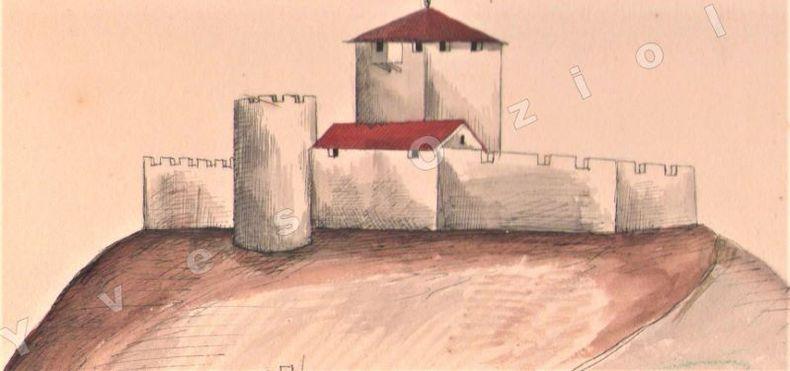 [Dessins] - Ensemble de 11 dessins coloriés main de villes et villages d'Auvergne..