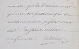 L. S. au commissaire Jean Chrysostôme de Grésillemont, commissaire-ordonnateur des guerres à Mont-Royal.. LOUVOIS, François Michel Le Tellier de.