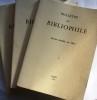 Bulletin du bibliophile. 1982. Année complète, 4 numéros.. BULLETIN DU BIBLIOPHILE 1982