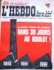 """L'hebdo Hara-Kiri N° 26. Prolongement hebdomadaire du mensuel Hara-Kiri. """"Bête et méchant"""". Reiser, Wolinski, Cavanna, Cabu, Delfeil de Ton, ..."