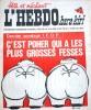 """L'hebdo Hara-Kiri N° 16. Prolongement hebdomadaire du mensuel Hara-Kiri. """"Bête et méchant"""". Reiser, Wolinski, Cavanna, Cabu, Delfeil de Ton, ..."