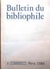 Bulletin du bibliophile. 1986-3.. BULLETIN DU BIBLIOPHILE 1986-2