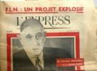 """L'Express N° 482 du 8 septembre 1960. De Gaulle devant la presse en couverture - F.L.N. un projet explosif, une page de Siné """"Retour de vacances"""".... ..."""