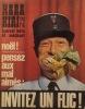 Hara-kiri mensuel, journal bête et méchant. Numéro 111. Noël, invitez un flic! Décembre 1970.. Collectif : HARA-KIRI