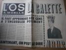 L'Os à moëlle. Pour tout ce qui est contre - Contre tout ce qui est pour. Numéro 38. Directeur: Pierre Dac. 7 janvier 1965.. Collectif : L'OS A MOELLE ...