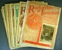 Recherches et inventions. Revue mensuelle. Année 1933 incomplète. Janvier à décembre. Il manque les numéros de septembre et octobre.. RECHERCHES ET ...