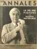 Les Annales politiques et littéraires N° 2503. Maurice Maeterlinck en couverture (photo Kertesz).. LES ANNALES POLITIQUES ET LITTERAIRES