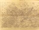 Maubeuge S.O. et S.E. Carte N° 9. Carte d'état major. Relevés de 1832.. MAUBEUGE - CARTE