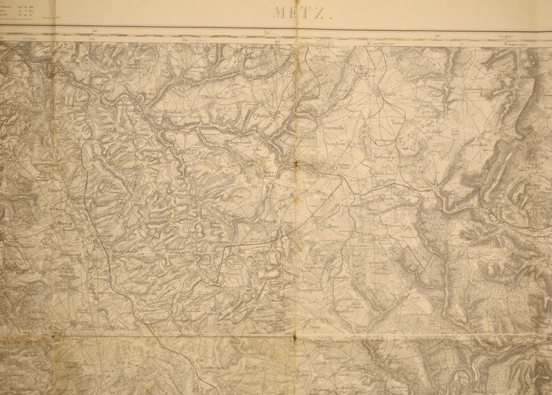 Metz. Carte N° 36. Carte au 1/80 000. Relevés de 1833. Révisée en 1901 et 1912. Tirage de 1915.. METZ - CARTE