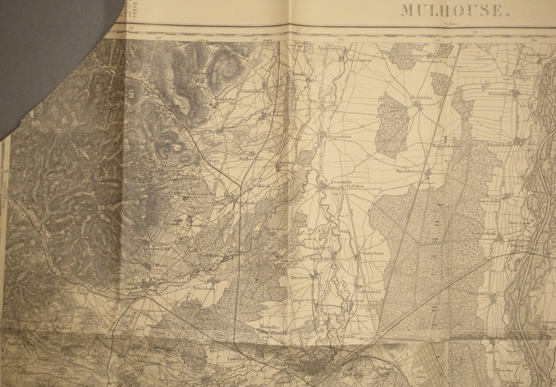 Mulhouse (Colmar). Carte N° 101. Carte au 1 80 000. Relevés de 1837. Révisée vers 1900. Début XXe.. MULHOUSE - CARTE N° 101