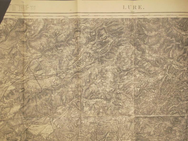 Lure (Epinal). Carte N° 100. Carte au 1/80 000. Relevés de 1839. Révisée en 1896.. LURE - CARTE
