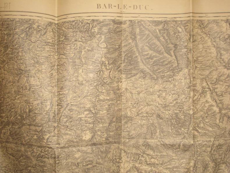 Bar-le-Duc (Verdun). Carte N° 51. Carte au 1/80 000. Relevés de 1838. Révisée en 1897.. BAR-LE-DUC - CARTE