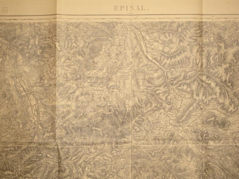 Epinal (Lunéville). Carte N° 85. Carte au 1/80 000. Relevés de 1839. Révisée en 1896.. EPINAL - CARTE