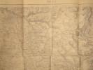 Metz (Longwy). Carte N° 36. Carte au 1/80 000. Relevés de 1835. Révisée en 1896.. METZ - CARTE
