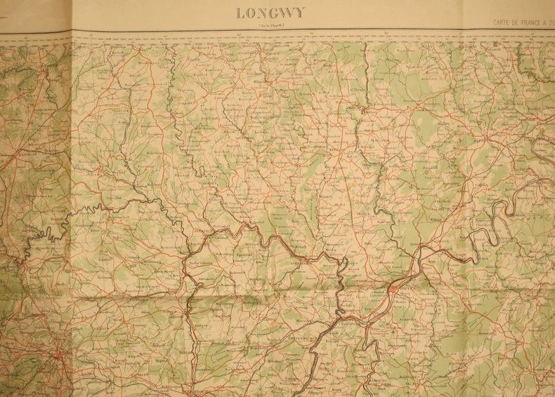 Longwy (Aix-la-Chapelle). Feuille N° 11. Carte de France en couleurs au 1 200 000e. Feuille N° 11. Vers 1920.. LONGWY - FEUILLE N° 11
