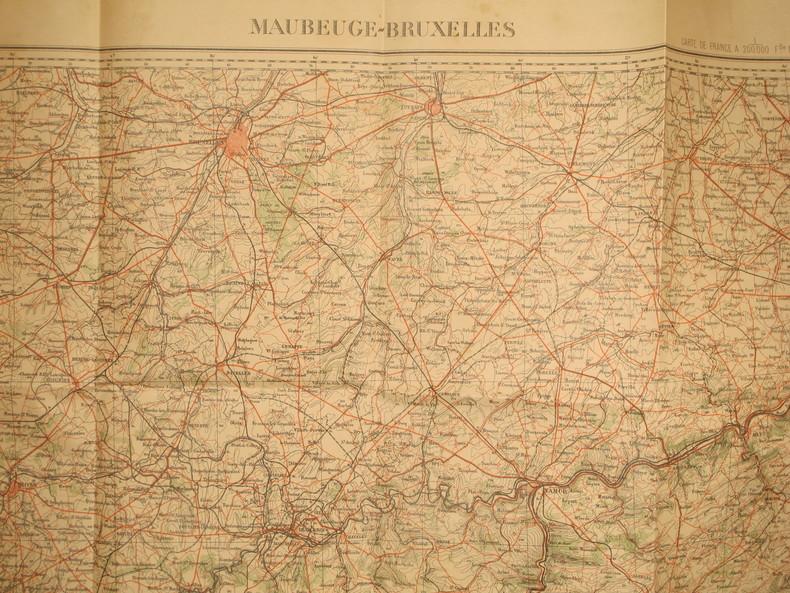 Maubeuge-Bruxelles. Feuille N° 5. Carte de France en couleurs au 1 200 000e. Feuille N° 5.. MAUBEUGE-BRUXELLES - FEUILLE