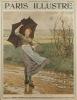 Paris illustré. N° 36 (Mars I). En couverture : Giboulées, aquarelle de Ridgway Hnight. Massenet et les auteurs de Chérubin à Monte-Carlo (9 pages). ...