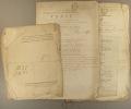 Vente de biens nationaux de première origine provenant de l'aumônerie de Vallières, de l'hôpital de Luynes, de la Charité de Tours et du collège. Une ...