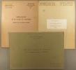 Aménagement et développement de la région Authion-Loire. 3 brochures. Atlas sur les structures des exploitations et les productions de la vallée (19 ...