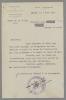 Lettre dactylographiée accompagnant l'envoi du texte d'une allocution prononcée à la radio le 20 mai 1943. Le nom du destinataire (en Maine-et-Loire) ...