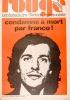 Rouge N° 237. Hebdomadaire d'action communiste. Condamné à mort par Franco!. ROUGE