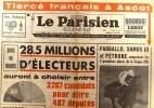 Le Parisien libéré. 21 juin 1968. 28 - 5 millions d'électeurs auront à choisir entre 2267 candidats…. LE PARISIEN LIBERE