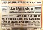 Le Parisien libéré. 22 et 23 juin 1968. Elections premier tour…. LE PARISIEN LIBERE
