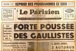 Le Parisien libéré. 24 juin 1968. Forte poussée des gaullistes…. LE PARISIEN LIBERE