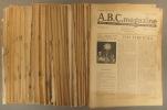 A.B.C. Magazine. Mensuel artistique et littéraire. 1936-1939. Série incomplète: Années 1936 et 1938 complètes. 3 numéros de 1937. 5 numéros de 1939.. ...