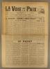 La voix de la paix et le Pionnier réunis N° 124. Organe de l'Union pacifiste de France. Mensuel. Rédaction et administration : Emile Bauchet.. LA VOIX ...
