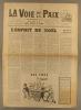 La voix de la paix et le Pionnier réunis. Organe de l'Union pacifiste de France. Numéro 138. Mensuel. Rédaction et administration : Emile Bauchet.. LA ...