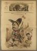 L'éclipse N° 42. Portrait charge d'Hervé, compositeur-auteur-acteur, etc. dans le rôle de Chilpéric aux Folies-Dramatiques. Couverture illustrée en ...