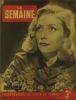 La Semaine N° 166. En couverture l'actrice MIchèle Alfa. Menton…. LA SEMAINE