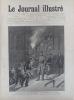 Le Journal illustré. Gravure à la Une : Catastrophe de Saint-Mandé : Transport des victimes. Gravure intérieure double page : Collision ferroviaire de ...