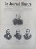 Le Journal illustré. Gravure à la Une : Le nouveau gouvernement chilien (4 portraits). Gravure intérieure double page : Attachés militaires étrangers ...