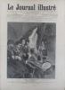 Le Journal illustré. Gravure à la Une : tableau de Dagnan-Bouveret : Les conscrits. Gravure intérieure double page : Pillage d'une mission catholique ...